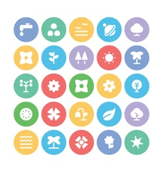 Nature colored icons 8 vector