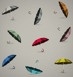Seamless pattern with colored umbrellas vector image
