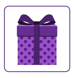 Colorful wrapped gift box icon lilac vector