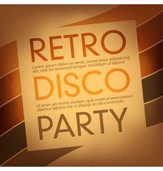 Disco party flayer design template vector