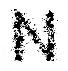 alphabet ink n vector image vector image