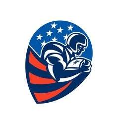 American Football Rushing Running Back vector image vector image