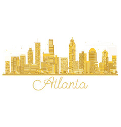 Atlanta usa city skyline golden silhouette vector