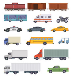 Automobile trucks and vector