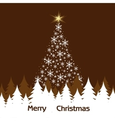 Background of Christmas trees vector image vector image