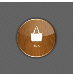 Bags wood application icons vector image