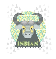 Buffalo gray vector