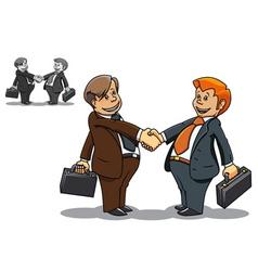 businessmen meeting vector image vector image