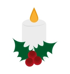 Candle of christmas season design vector