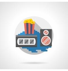 Cinema popcorn color detailed icon vector image vector image