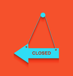 Closed sign whitish icon on vector
