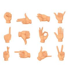different hands gestures pictures in vector image