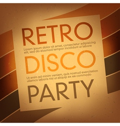 Disco party flayer design template vector