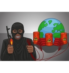 Dynamiter terrorist threat vector