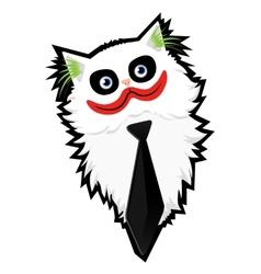 Funny cartoon cat-jocker vector