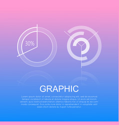 graphic round diagrams with and without percents vector image vector image