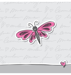 hand drawn card vector image vector image