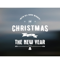 Merry christmas lettering season wishes vector
