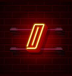 Neon symbol slash sign city signboard vector
