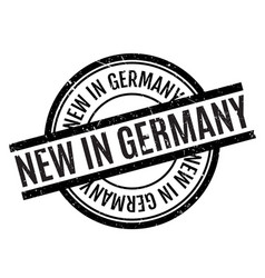 New in germany rubber stamp vector