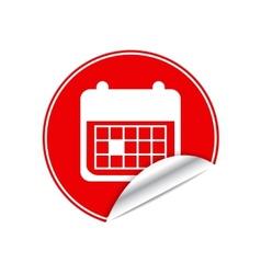 Red sticker calendar vector