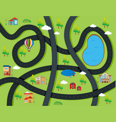road around the city vector image