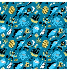 seamless pattern with pirates vector image vector image