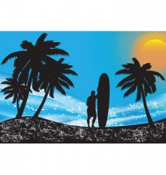 Summer scape vector