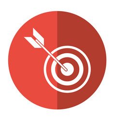 Target arrow strategy market shadow vector