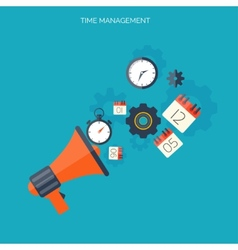 Time management concept world time business vector