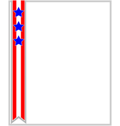 usa flag ribbon patriotic frame vector image vector image