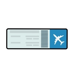 Ticket airplane plane travel paper icon vector