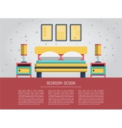 Interior of bedroom vector