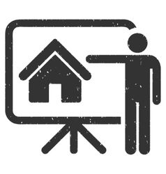 Realtor icon rubber stamp vector