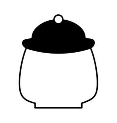 Tea pot container isolated icon vector