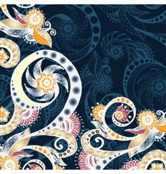 abstract floral decorative background vector image