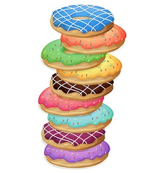 Colourful doughnuts vector
