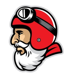 Bearded rider mascot head vector