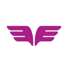 A pair of purple wings icon simple style vector