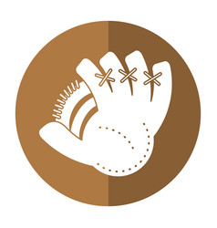 Baseball glove sport shadow vector