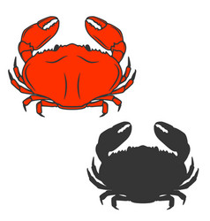 Crab icon isolated on white background vector