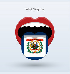 electoral vote of west virginia abstract mouth vector image vector image