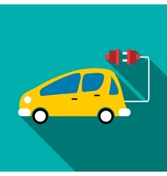 Electro car icon flat style vector
