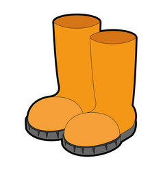 Farm boots isolated icon vector