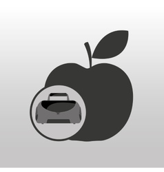 Fitness sport bag icon apple vector