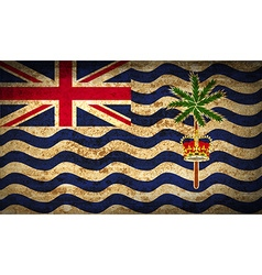 Flags british indian ocean territory with dirty vector