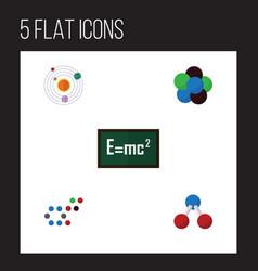 Flat science set of milky way proton molecule vector