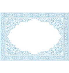 floral borders islamic style vector image