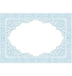 Floral borders islamic style vector