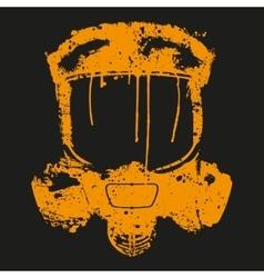 Gas mask splash effect vector
